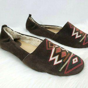 Latigo Southwest Lined Suede Loafer Flats Size 11